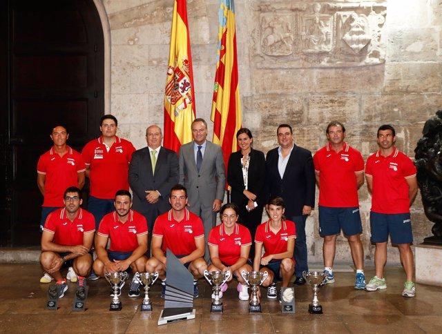 Recepción de los campeones de Pilota Valenciana