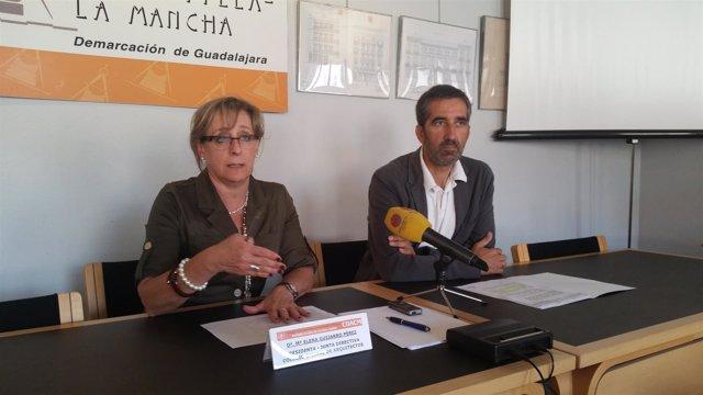 Foto Pta Colegio Arquitectos Con Delegado De La Junta