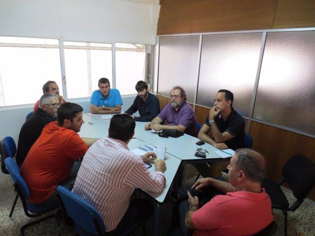 Sanz y Yuste en su reunión en la comarca de Valdejalón