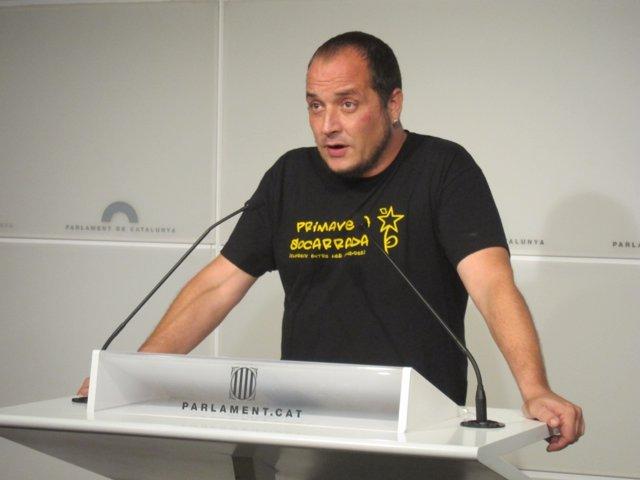 David Férnandez (CUP), en rueda de prensa