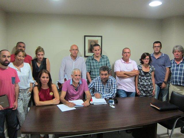 Comisión Ejecutiva Del PSOE En Cáceres