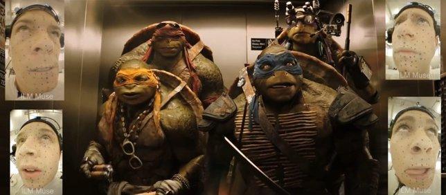 Captura de movimiento en Ninja Turtles