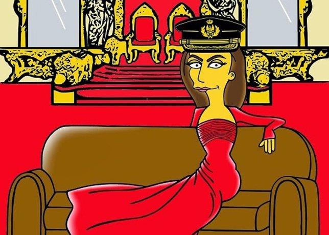 Letizia se convierte en Simpson