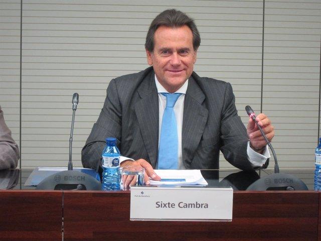 El presidente del Puerto de Barcelona Sixte Cambra