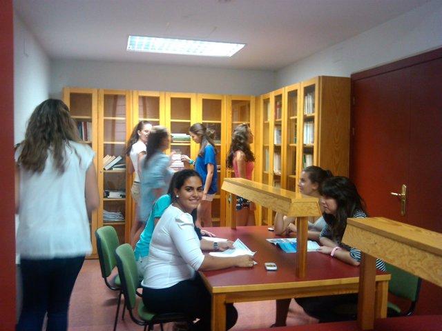 Biblioteca, Universitarios, Estudiantes, Alumnos