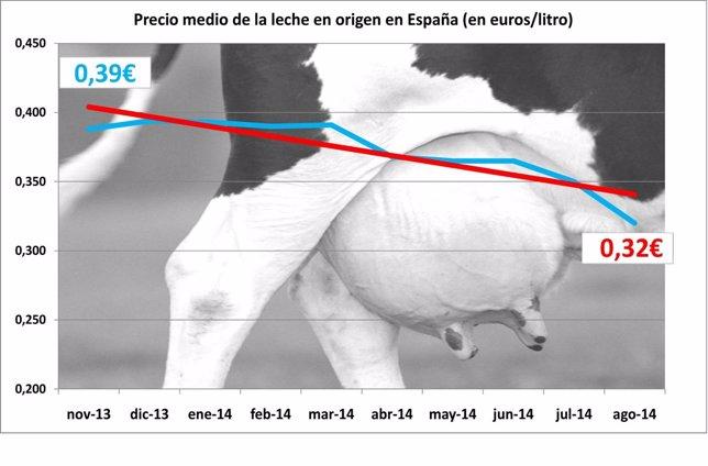 Gráfico precios de leche