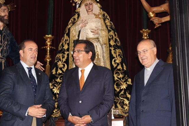 El presidente de la Fundación Cajasol, Antonio Pulido, en Huelva.
