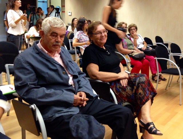 El expresidente Pasqual Maragall y su mujer, Diana Garrigosa