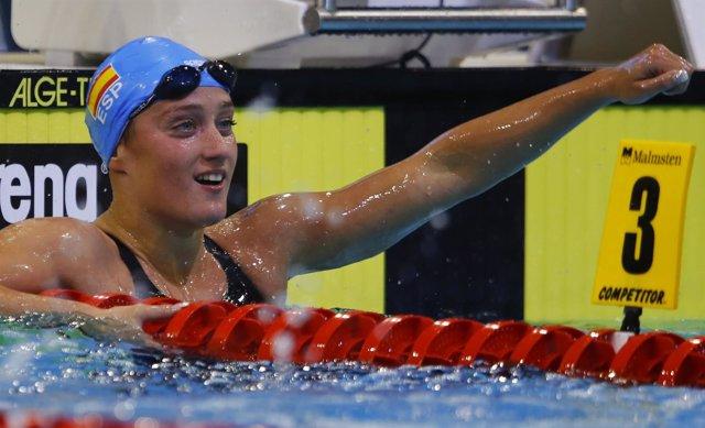 La nadadora española Mireia Belmonte