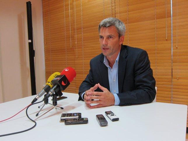 Juan José Rubio en la comparecencia ante los medios