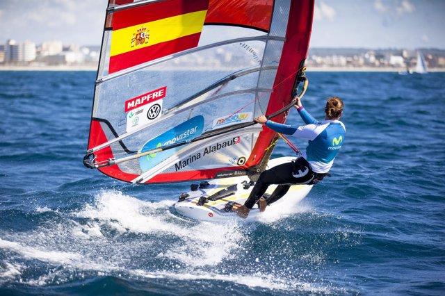 Marina Alabau en el Mundial de vela de Santander