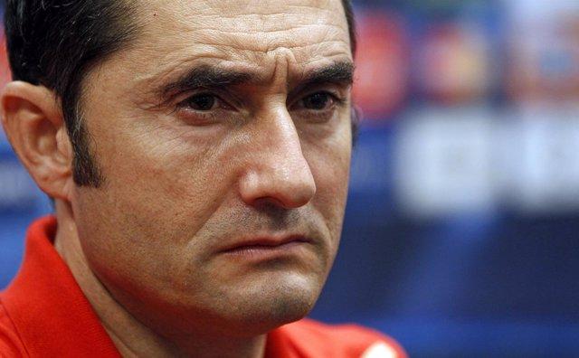 El entrenador del Athletic Club Ernesto Valverde