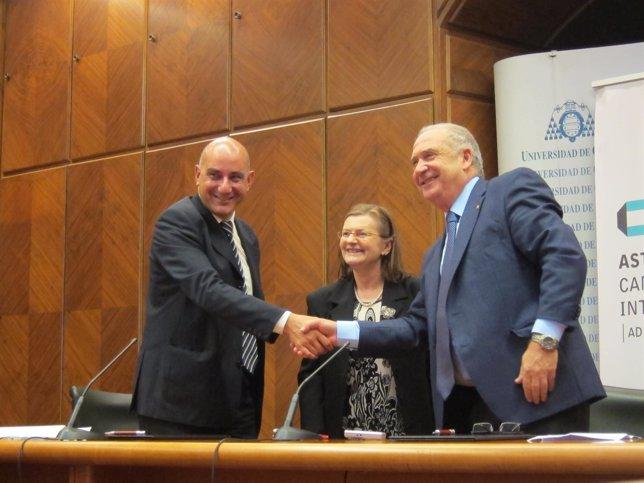 Nicolás de Abajo, Daniele Quantin y Vicente Gotor