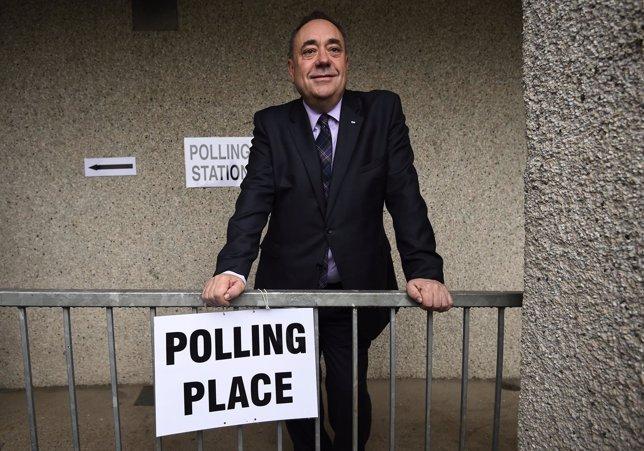 Alex Salmond después de votar