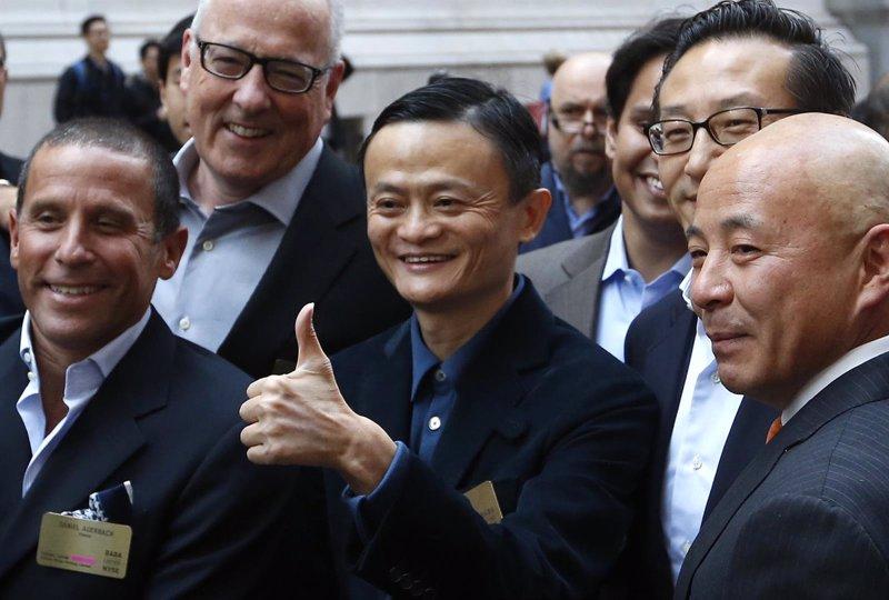 Alibaba cierra su primer día en la Bolsa de Nueva York subiendo un 38,07%