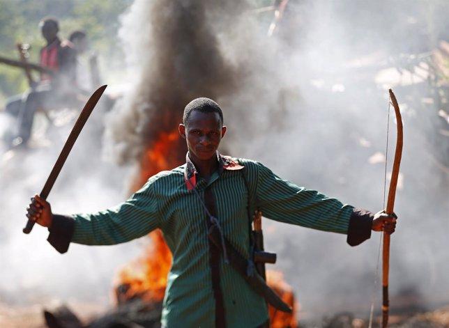 Enfrentamientos en Bambari (Republica Centroafricana)
