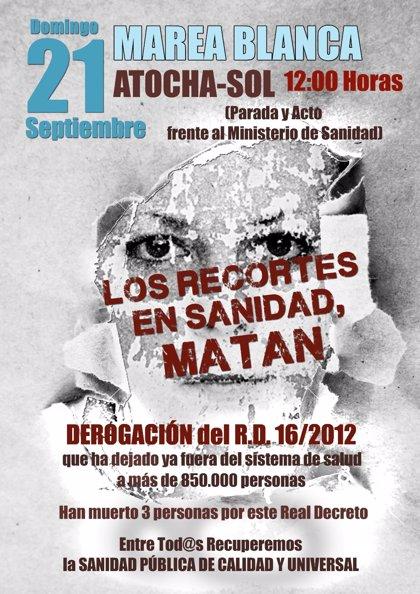 La Marea Blanca celebra este domingo su 23ª edición para protestar contra el Real Decreto 12/2012
