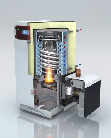 Dos emprendedores aragoneses crean la primera caldera de condensación de biomasa
