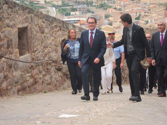 Artur Mas (pte.Generalitat) H.Rakosnik (esposa)