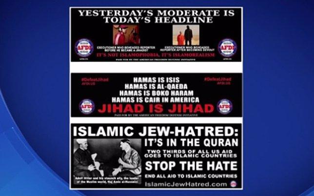 Campaña de mensajes contra el Islam en servicio público de NY