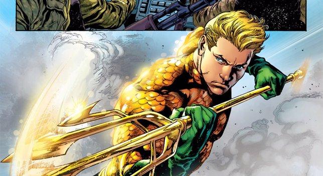Aquaman con su tridente