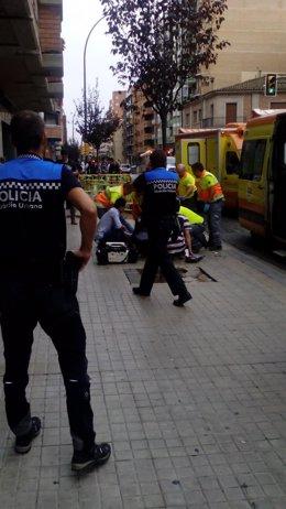 Apuñalamiento en Lleida