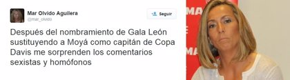 """Aguilera (ITF), critica los comentarios """"sexistas"""" hacia Gala León"""