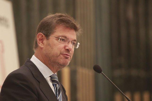 El secretario de Estado de Infraestructuras, Rafael Catalá,