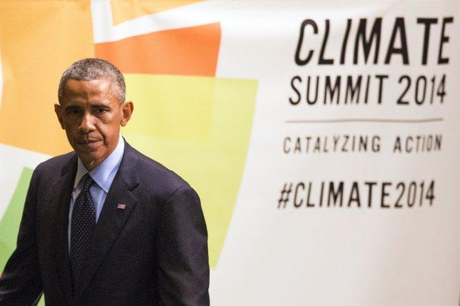 El presidente Barack Obama en la cumbre del cambio climático de la ONU