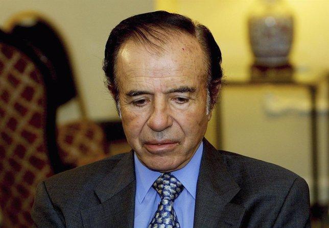 Ex presidente de Argentina, Carlos Menem