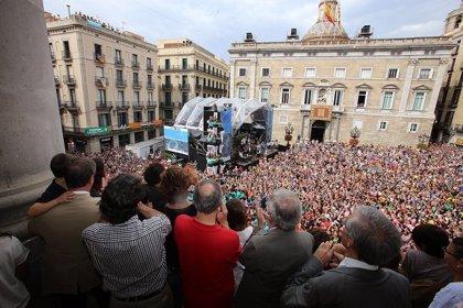 Barcelona vive una fiesta de la Mercè marcada por el tricentenario y el 9N