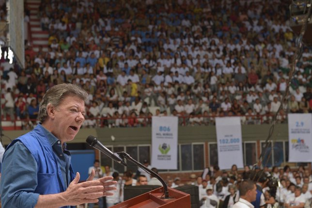 Juan Manuel Santos, en un acto oficial
