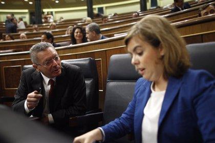 """La vicepresidenta, sobre Gallardón: Una persona """"con una gran visión política"""""""