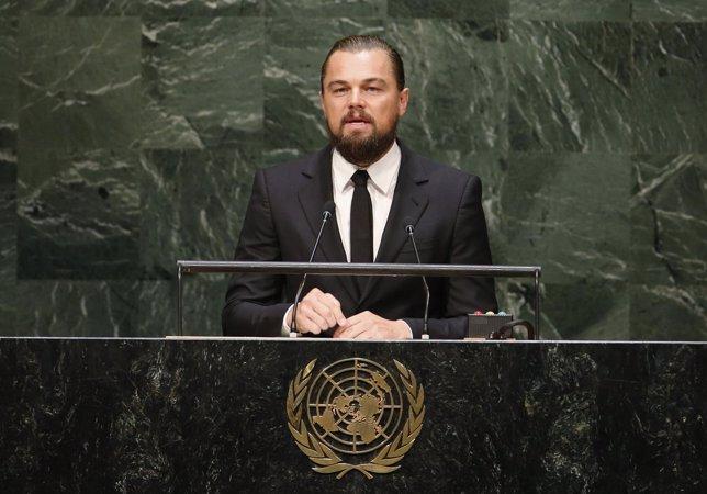 El actor estadounidense y mensajero de la paz, Leonardo DiCaprio