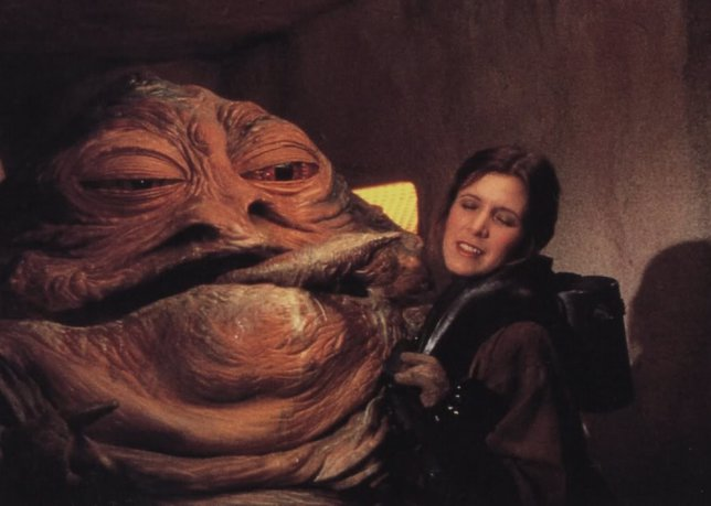 Jabba the Hutt y Leia