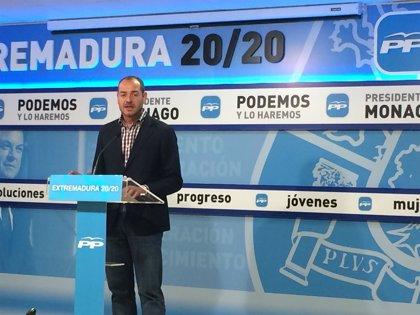 """El PP de Extremadura valora que el Gobierno de Rajoy retira la reforma porque busca """"el consenso"""""""