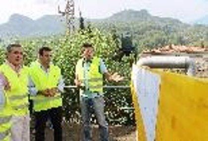 Company visita las obras de sustitución y ampliación del colector general de aguas residuales de Sóller