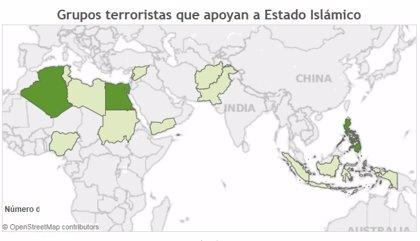 ¿Qué grupos yihadistas apoyan a Estado Islámico en todo el mundo?