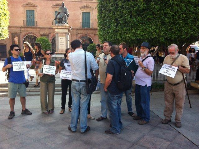 Imagen de la presentación de Ganemos en Murcia