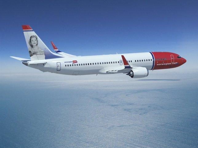 Avión 737-MAX De Norwegian
