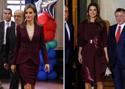 Letizia y Rania, reinando en 'Burdeos' el color de temporada