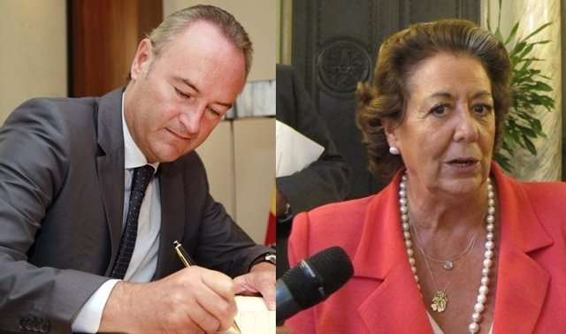 Alberto Fabra y Rita Barberá