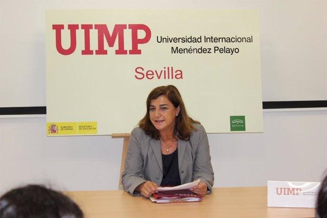 La directora de UIMP Sevilla, Encarnación Aguilar