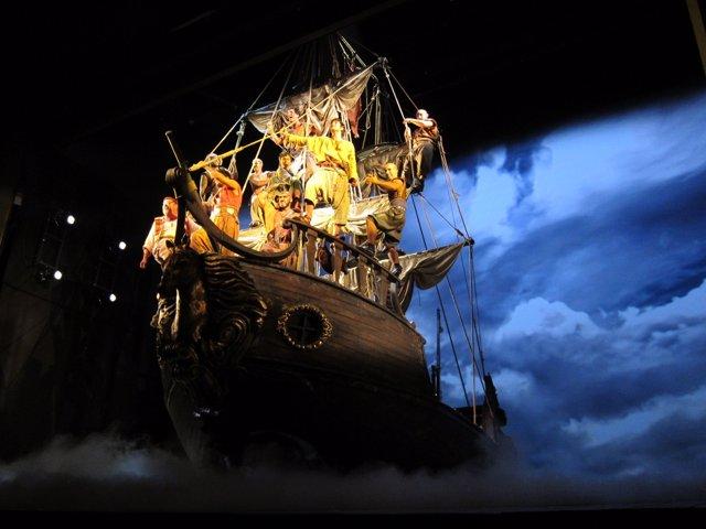 Un fragmento de 'Mar i Cel' en el Teatre Victòria