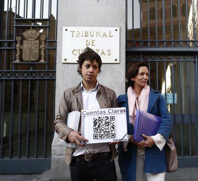 Carolina Bescansa y Segundo González, de Podemos en el tribunal de cuentas