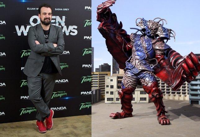 Nacho Vigalondo y un villano de Power Rangers
