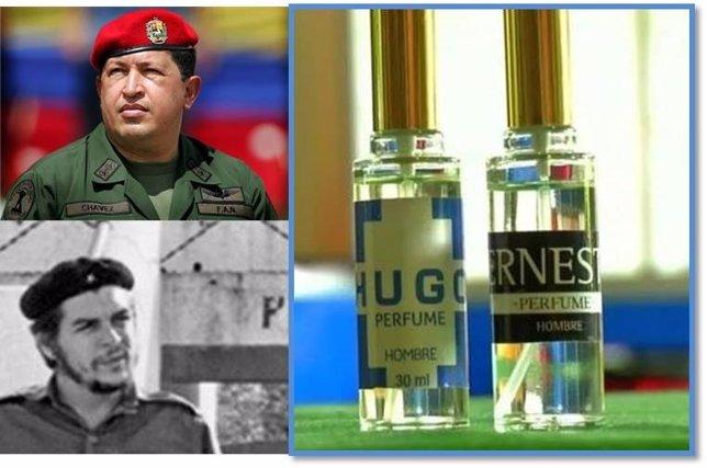 Perfume de Hugo Chavez y Che Guevara
