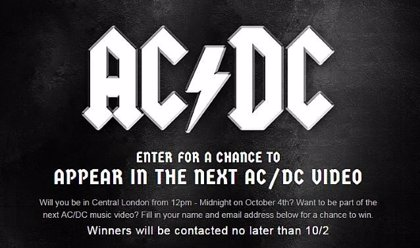 AC/DC convocan a sus fans para grabar un videoclip en Londres