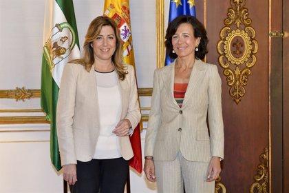 Susana Díaz y Ana Botín refuerzan la colaboración entre Junta y Banco Santander