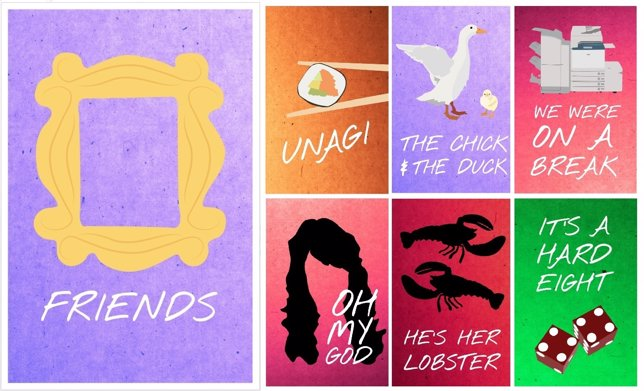 20 Carteles Minimalistas De Friends